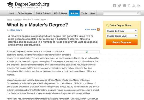 Msc dissertation results