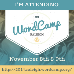 I'm Attending WordCamp Raleigh 2014