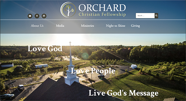Screenshot of Orchard Christian Fellowship
