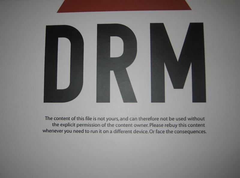 DRM sign. Used under creative commons.